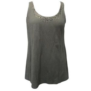 Eileen Fisher Grey 100% Linen Swing Tank Top XS